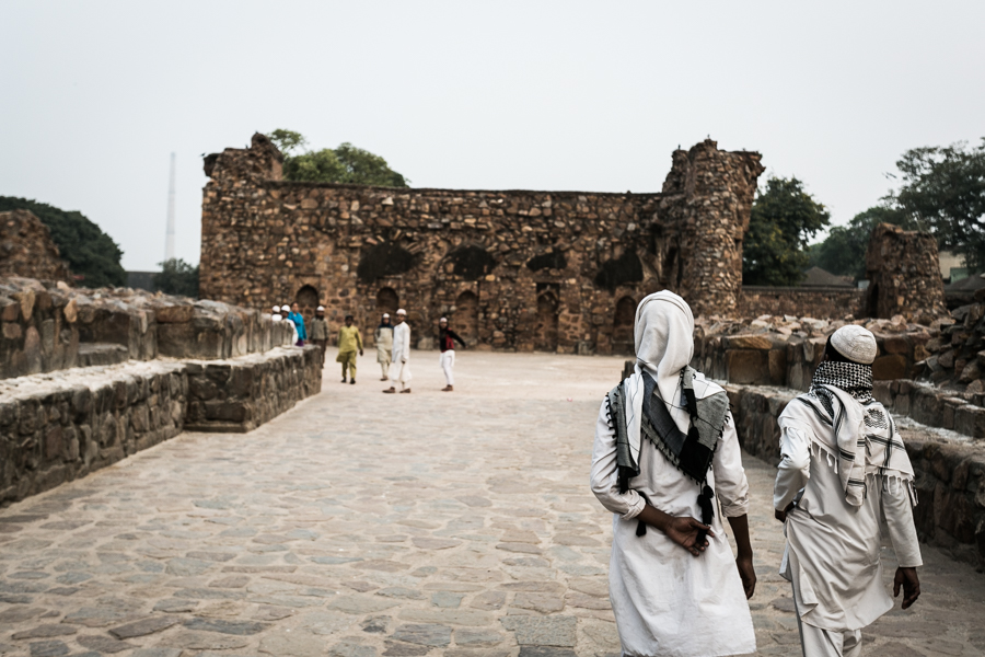 Locals walking the ancient grounds of the Fort.