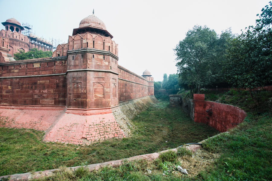 Fort ramparts adjacent to the Delhi Gate around where Zafar's two sons and grandson were executed.