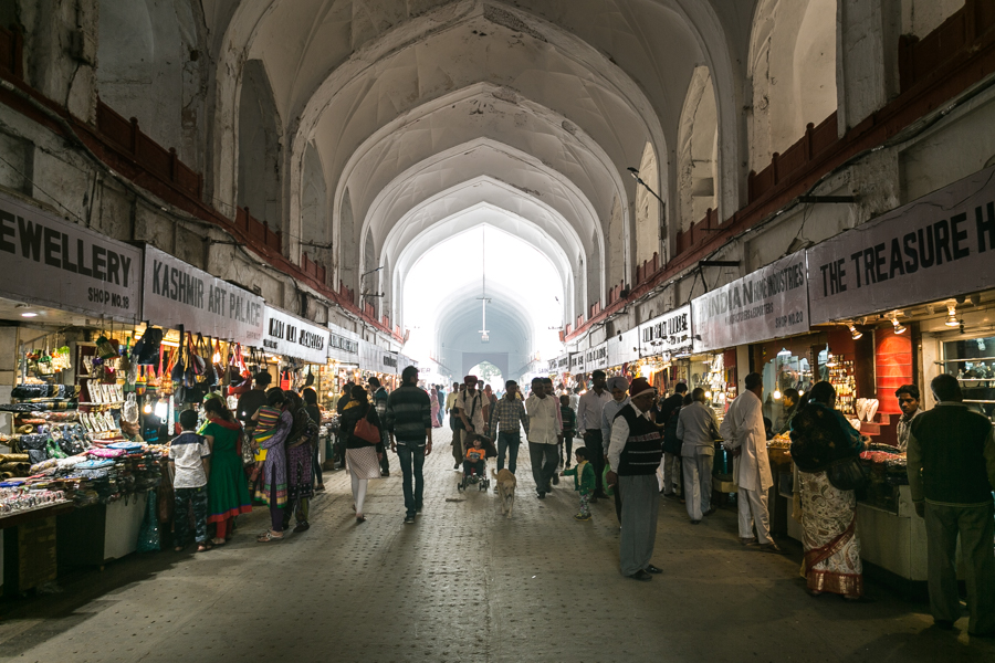Three hundred years ago the Chatta Chowk Bazaar or Meena Bazaar, as it was also called, advertised the lavish industry of the Mungals to visitors as soon as they entered the Red Fort through the Lahori Gate gate.
