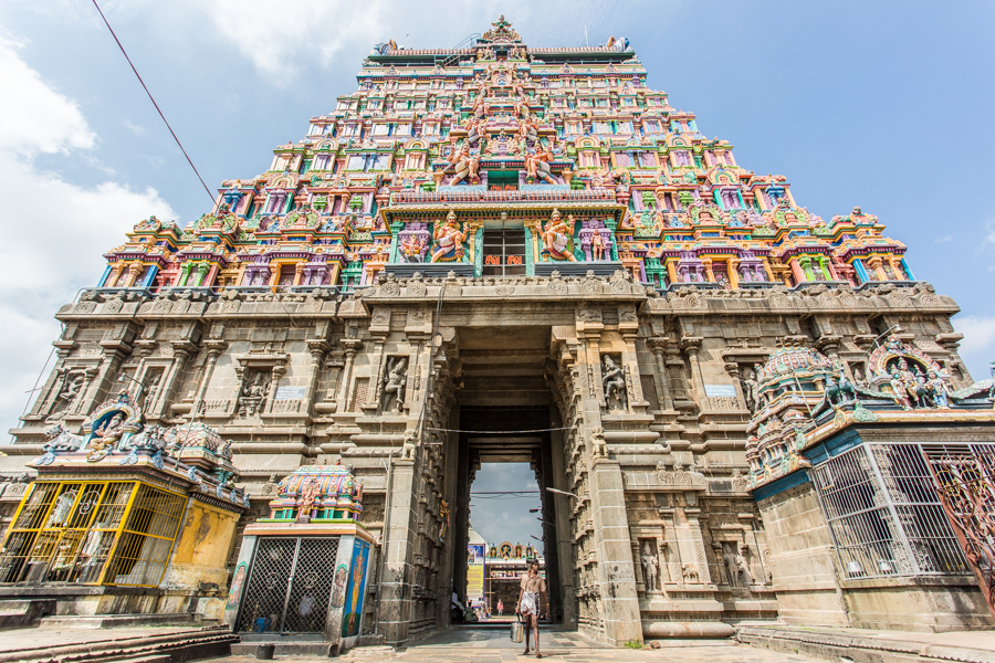 A goporua (an ornate temple tower) at Nataraja.