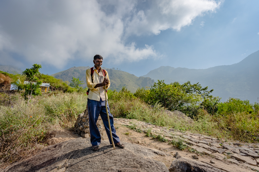 Our guide on the trek from Kodaikanal to Munnar.