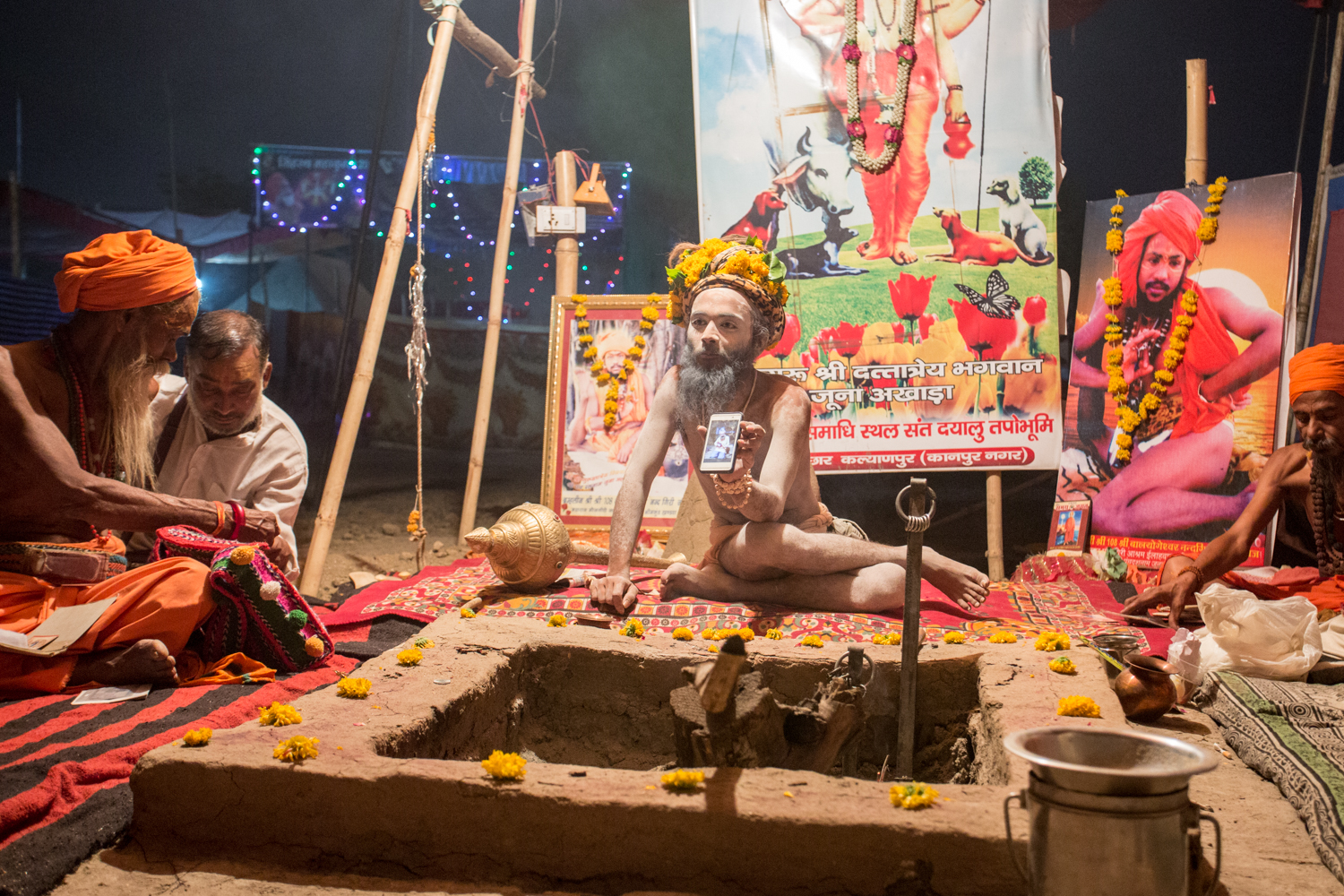 Sandhus traditionally take  sannyasa , a renunciation in which a person renounces worldly and materialistic pursuits and dedicate their lives to the attainment of freedom from  samsara  , the cycle of death and rebirth,by attaining enlightenment.But some Sandhus hold on to their data plan.