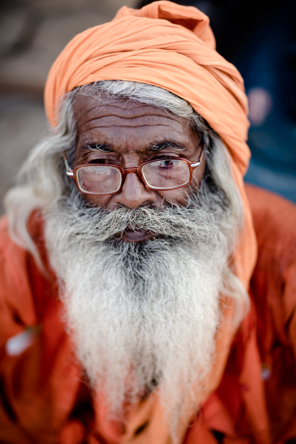 A baba in ocher robes.