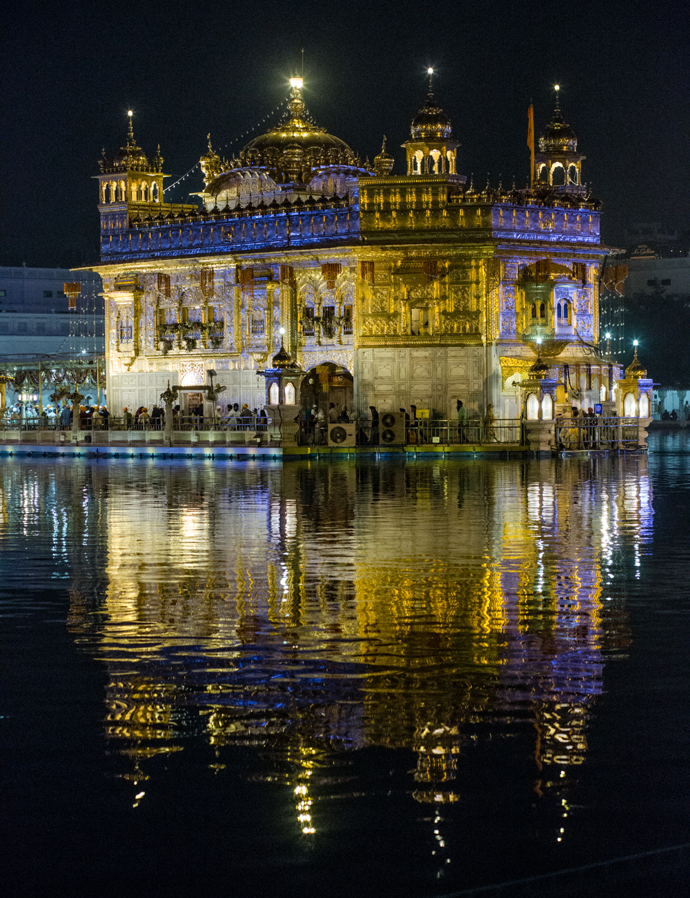 The Golden Temple of Amritsar. The Temple is India's most visited monument, drawing more visitors that even the Taj Mahal.