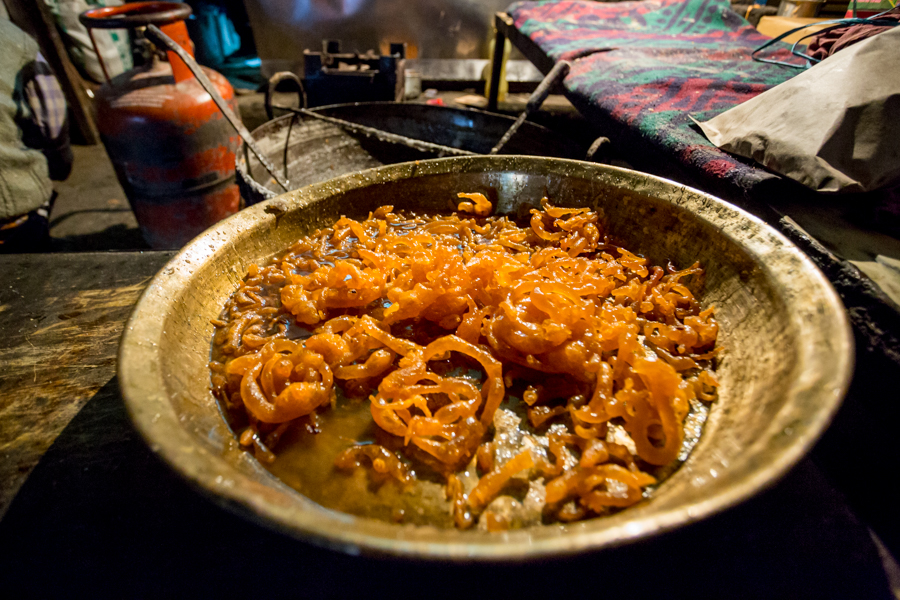 Jalebi, dough fried in a coil shape dipped in sugar syrup, is an ubiquitous Indian sweet.