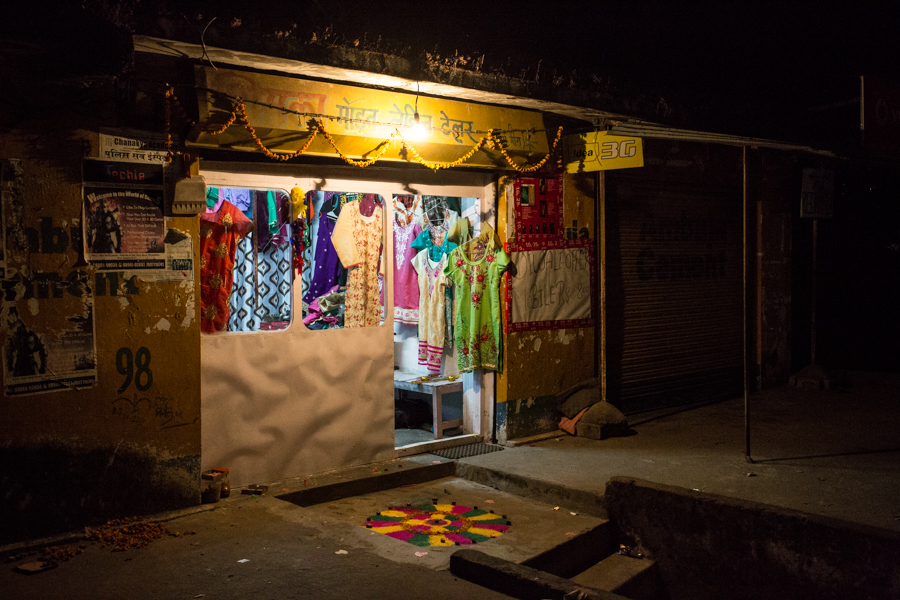 The Herr family's shop and home in the quiet town of Bir located in the foothills of the Indian Himalaya.