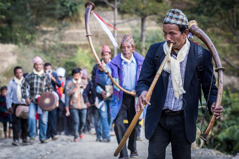 A Nurbri wedding processional.