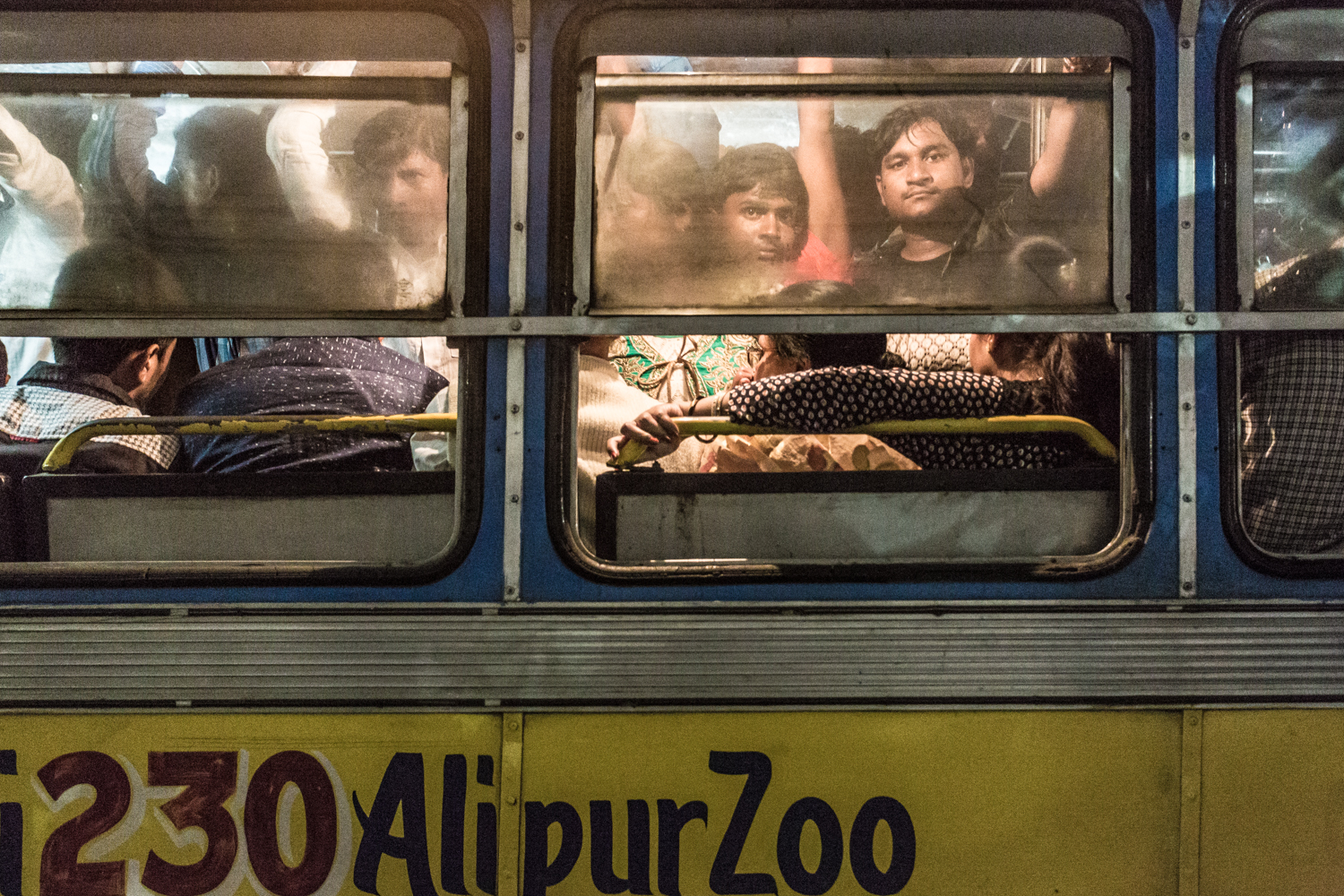 Buses were especially packed on Christmas in Kolkata, a city with 4.6 million residents.