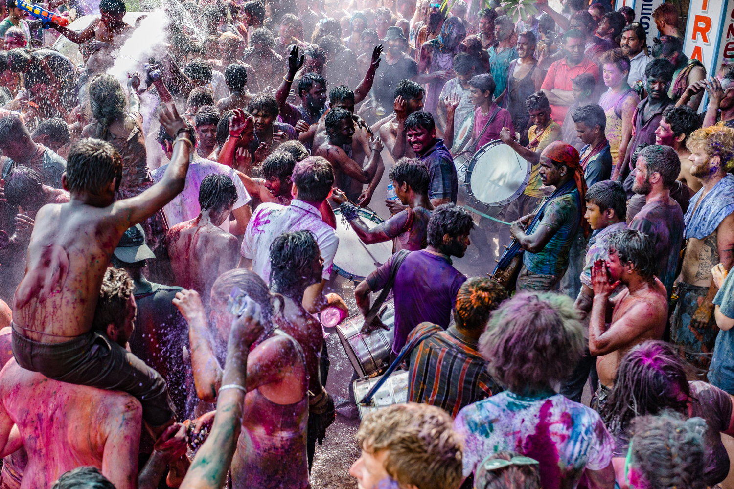 Holi celelbrations in Hampi.