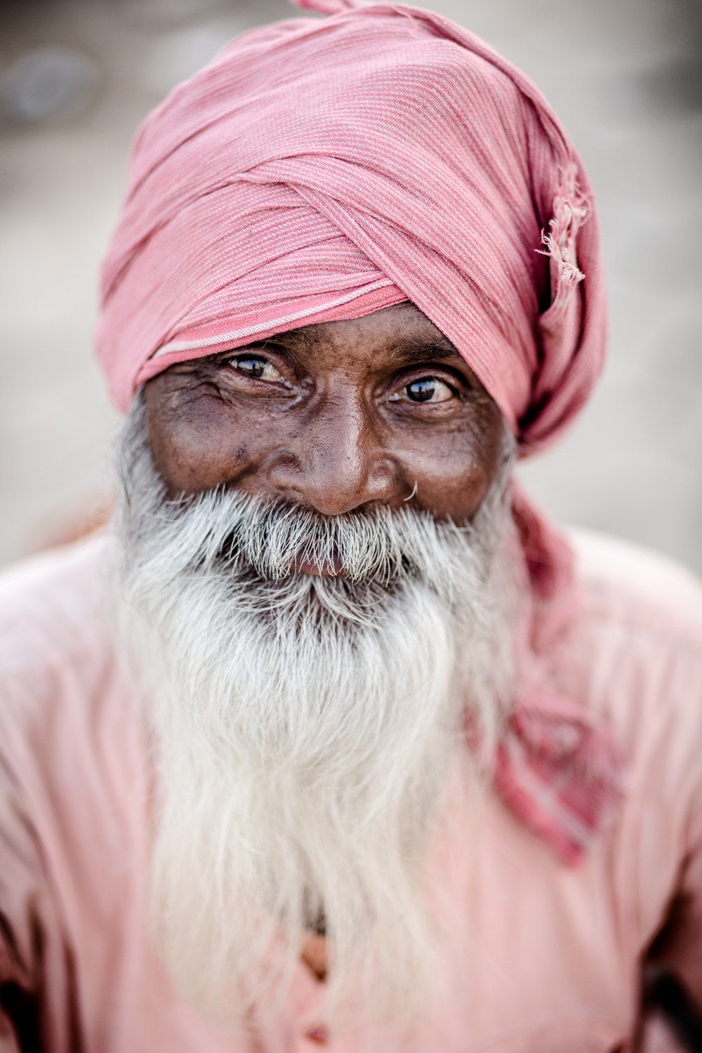 Pink Baba at Kumbh Mela in Ujjain. Kumbh Mela is a Hindu pilgramage festival held once every 12 years at a given site, drew an estimated 70 million visitors to the city of Ujjain in 2016.
