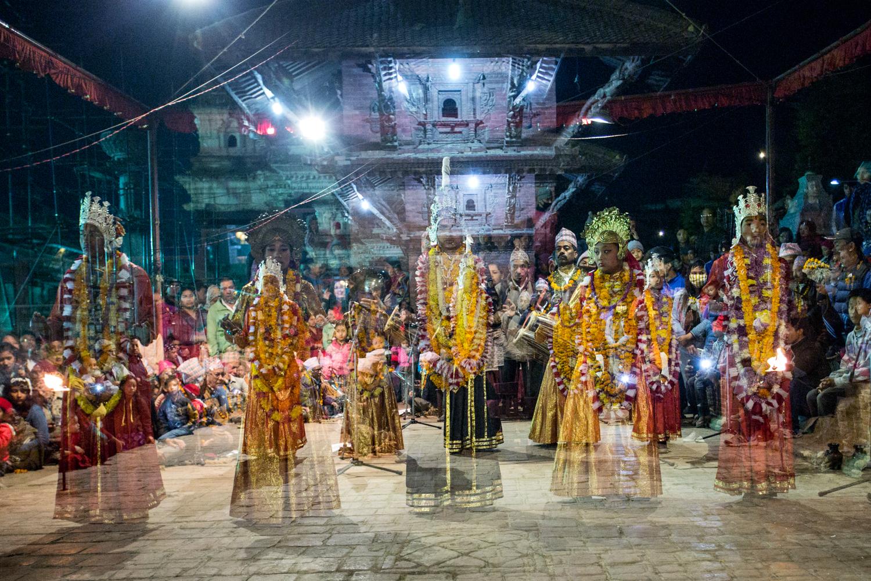 Bharatanatyam, a genre of Hindu classical dance, performed in Patan.