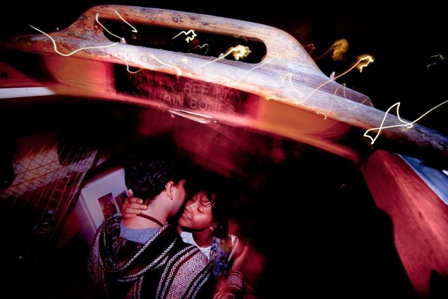 Love on a boat.Marina Del Rey, California.