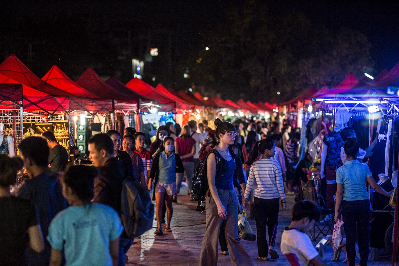 Vientiane night market.