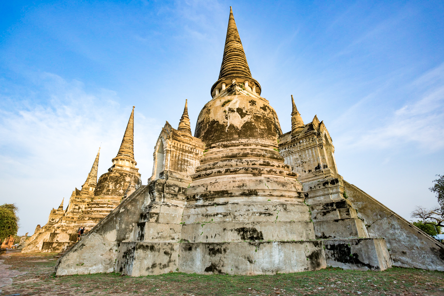Built in the late 15th century, the Royal Palace temple, Wat Phra Si Sanphet, is the largest and most iconic temple in Ayuthaya.