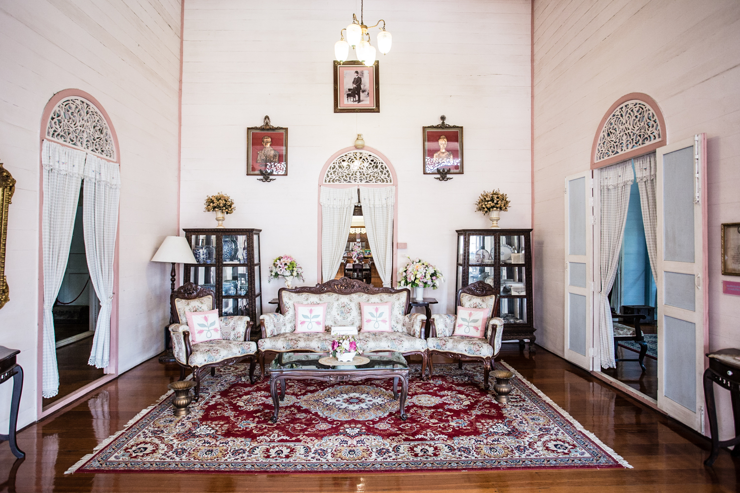 Furniture and other mementos of a bygone era fill the Vonburi house.