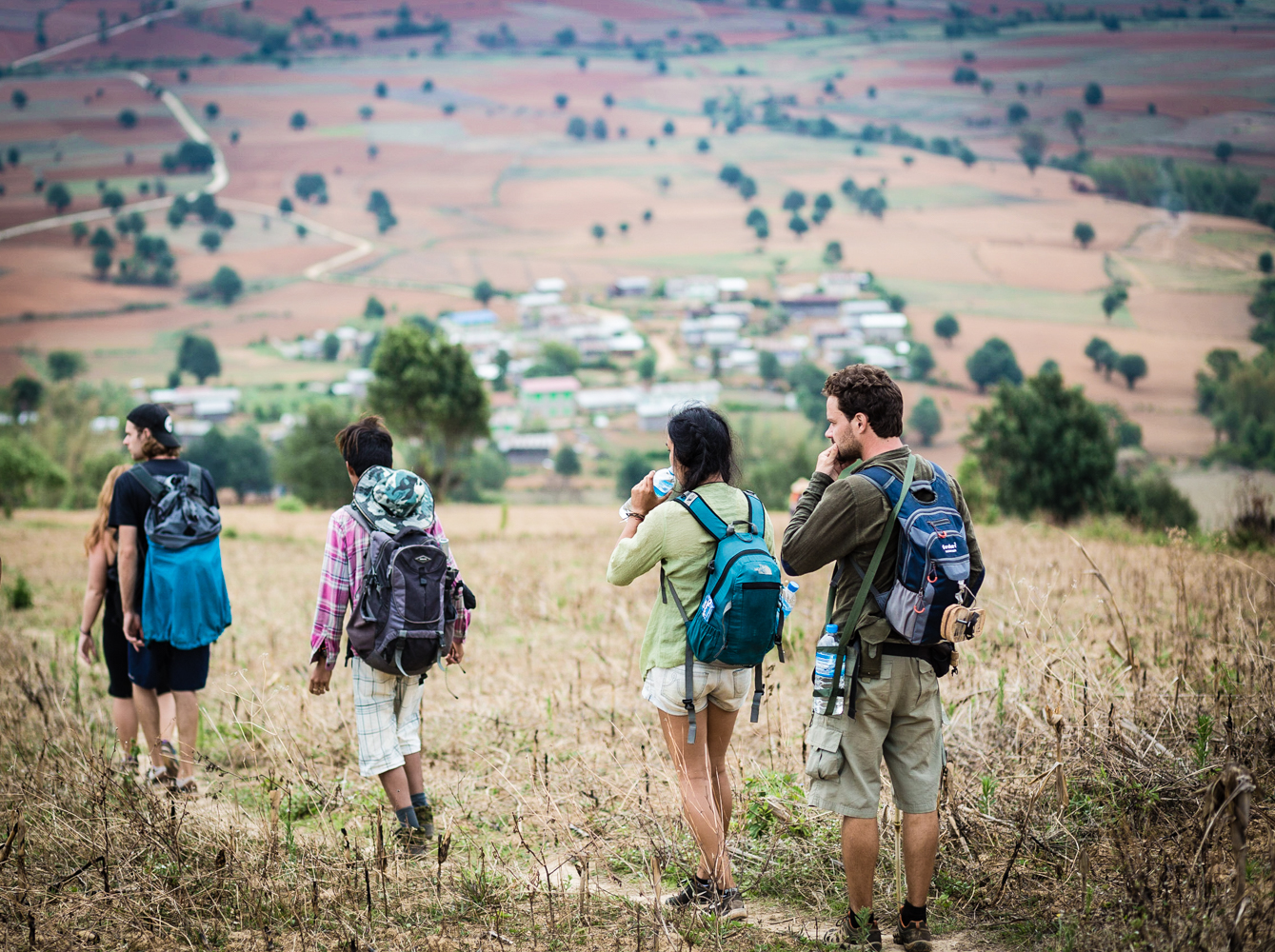 Members of the trekking group.