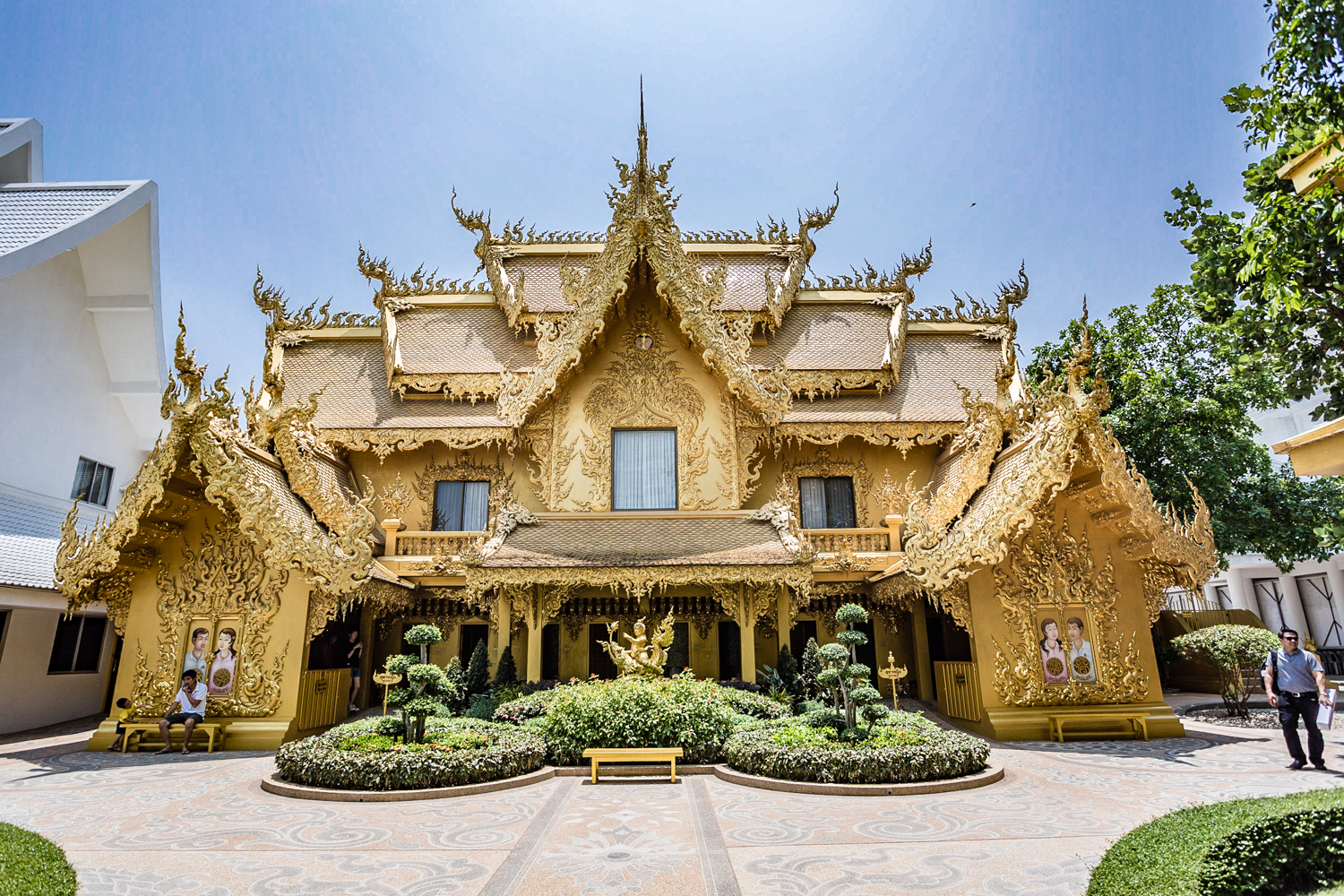 No visit to Wat Rong Khun would be complete without going into the golden building, probably the world's nicest bathrooms.