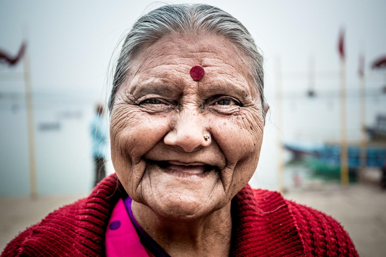"""""""Auntie"""" in Varanasi"""