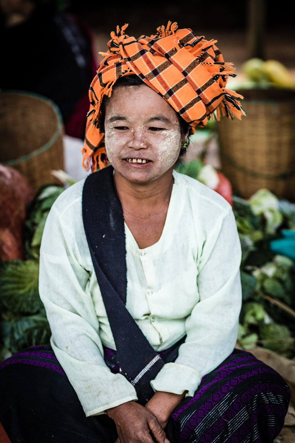 The Burmese apply Thanaka, a paste made from bark, to protect against the sun.