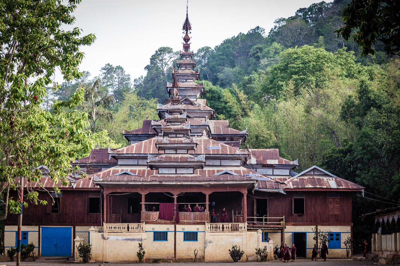 The Htee Their village monastery.