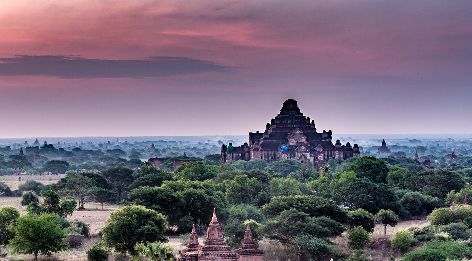 The Bagan Archaeological Zone consists of thousands of temple ruins.