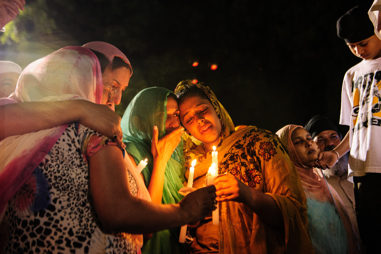 Candlelight vigil for Oak Creek shooting victims