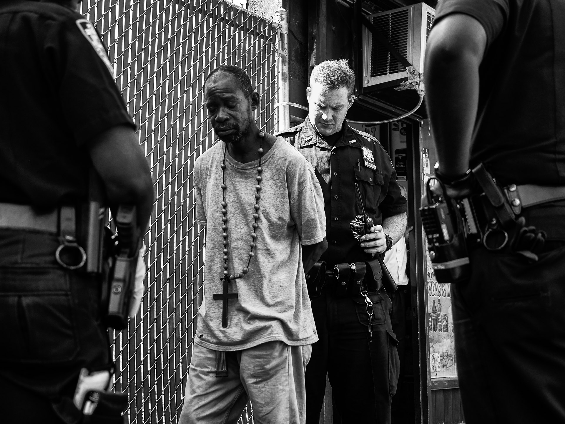 A man is arrested in an area of East Harlem that has experienced a surge in the use of synthetic marijuana, on Friday, September 18, 2015 in New York, N.Y.
