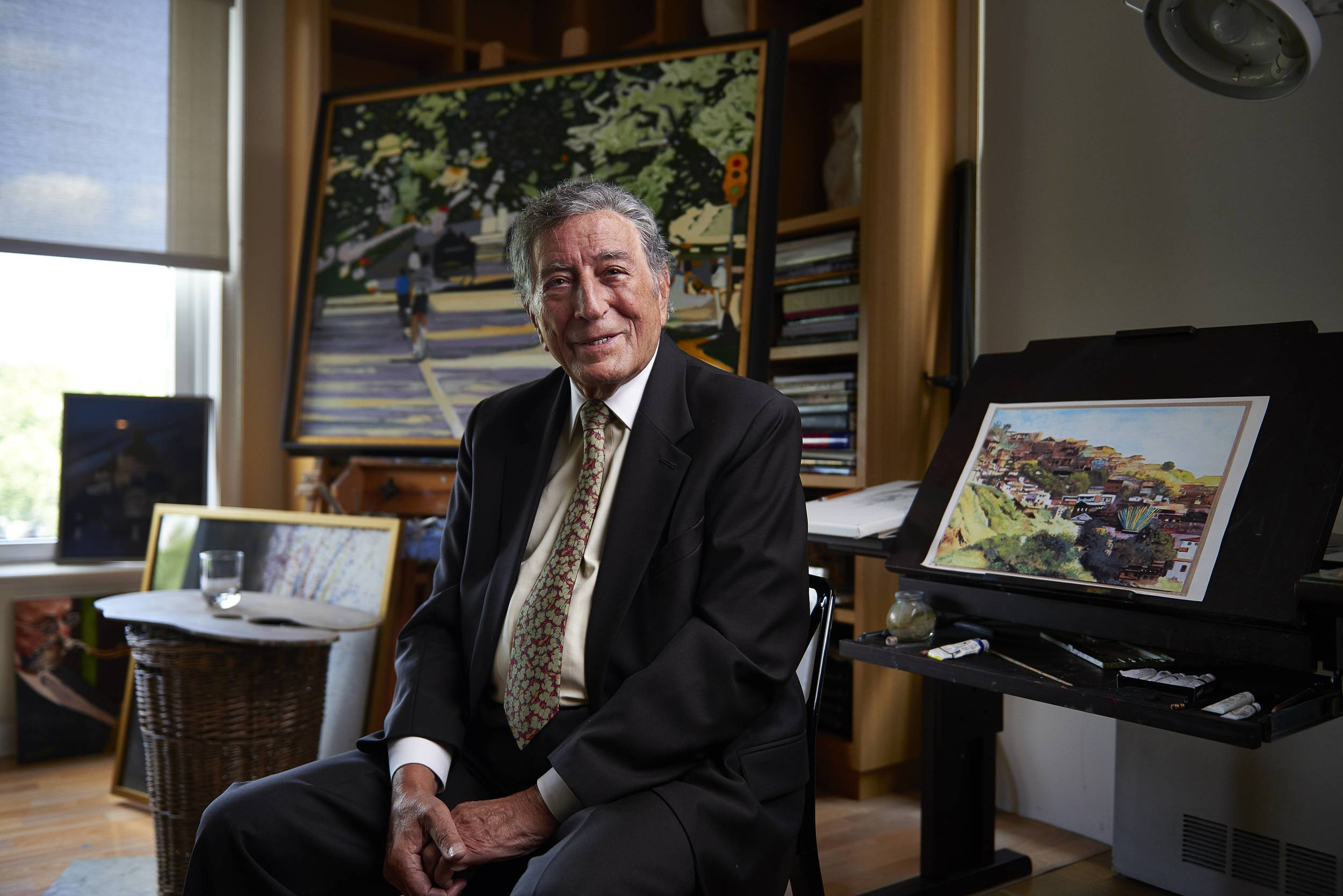 Portrait of singer Tony Bennett in his art studio on Monday, July 20, 2015 in New York, N.Y. Bennett has been a painter for decades, and his artworks have been exhibited widely.