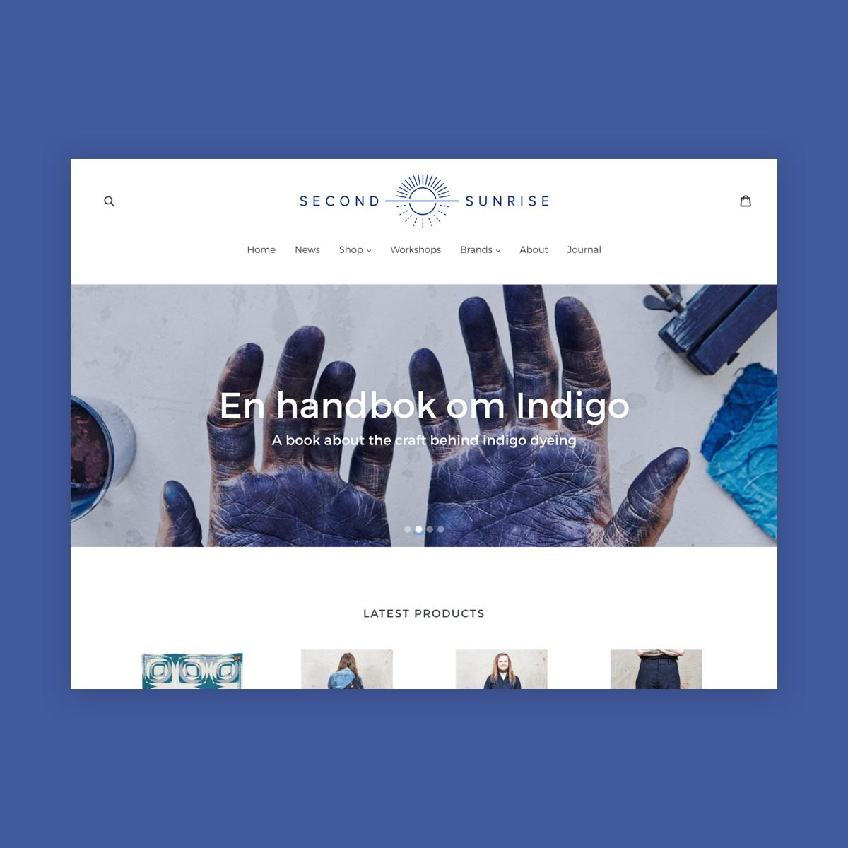 Second Sunrise website, branding -