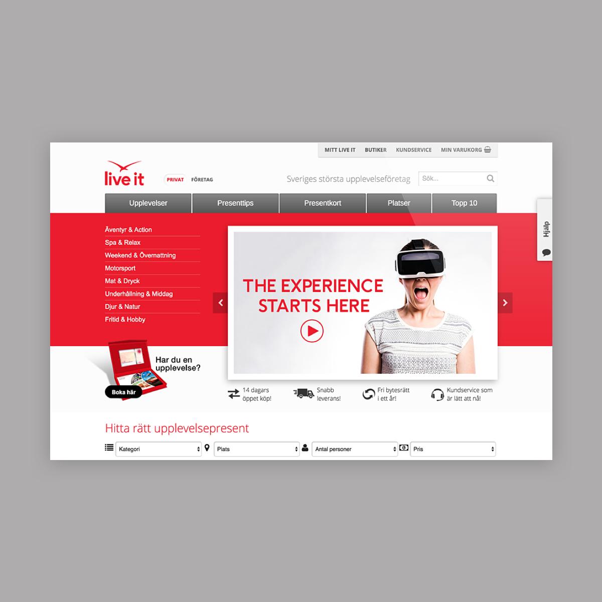 liveit website design -