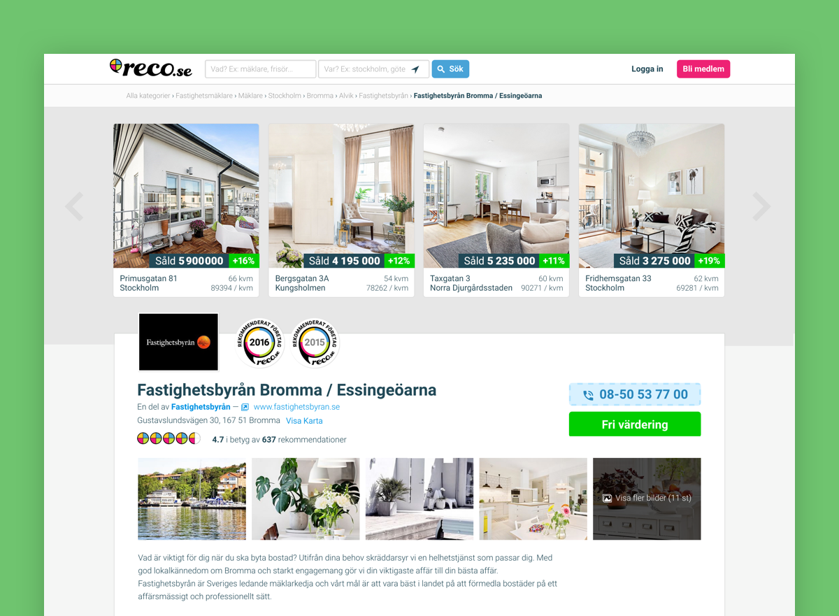 reco.se ux, design, branding -