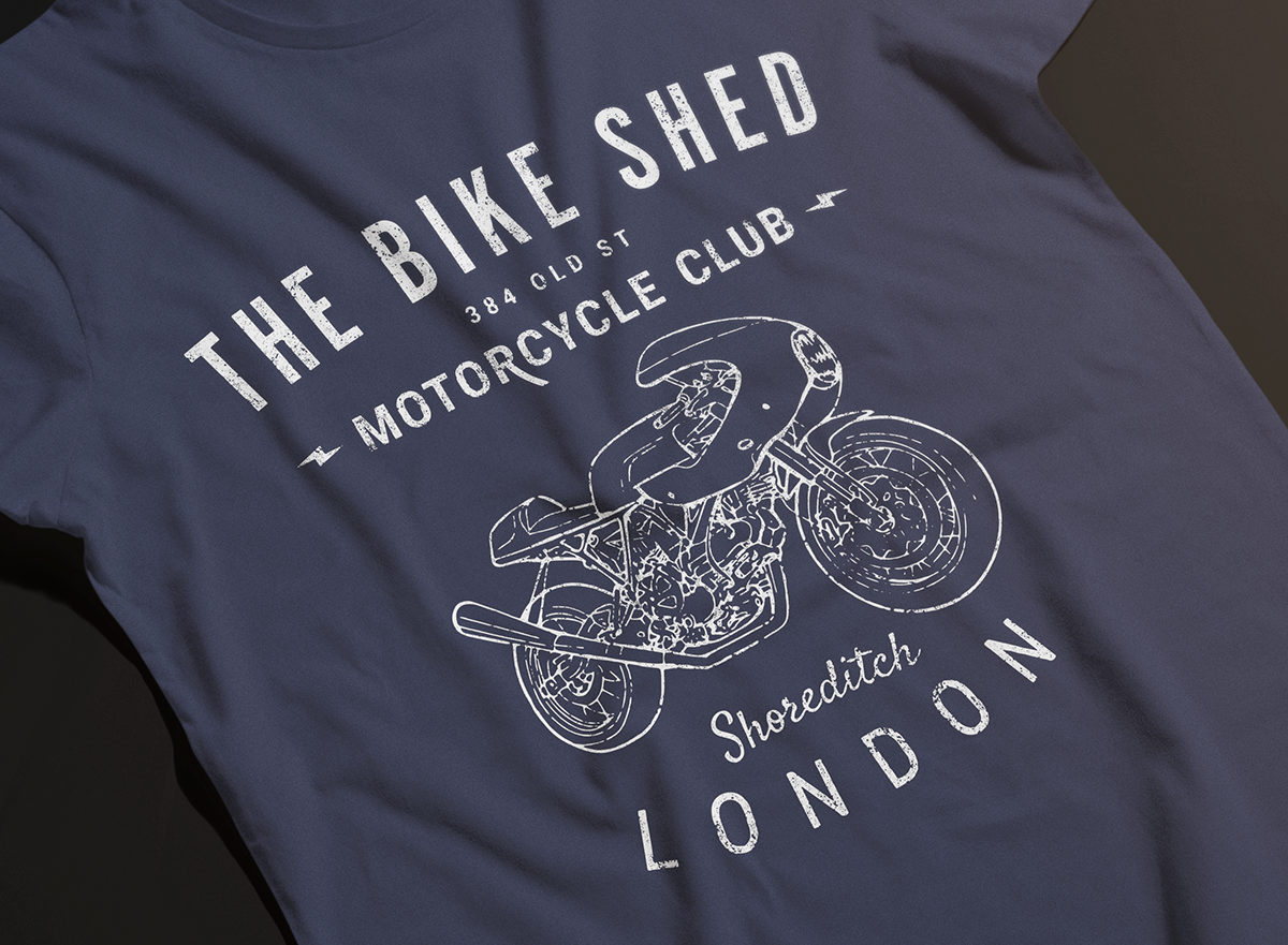 the bike shed tshirt series -