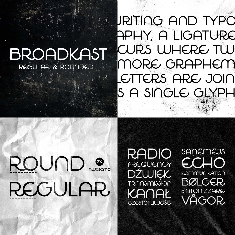 broadcast font buy -