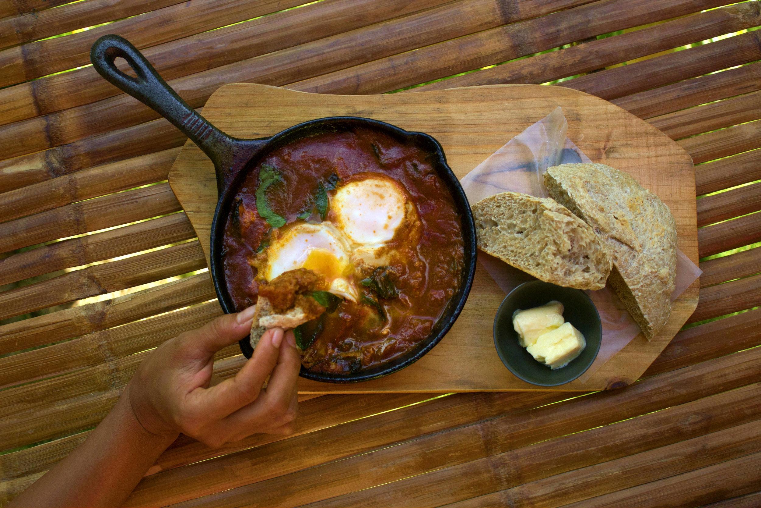 Mambajao Omelette with Ciabatta Bread