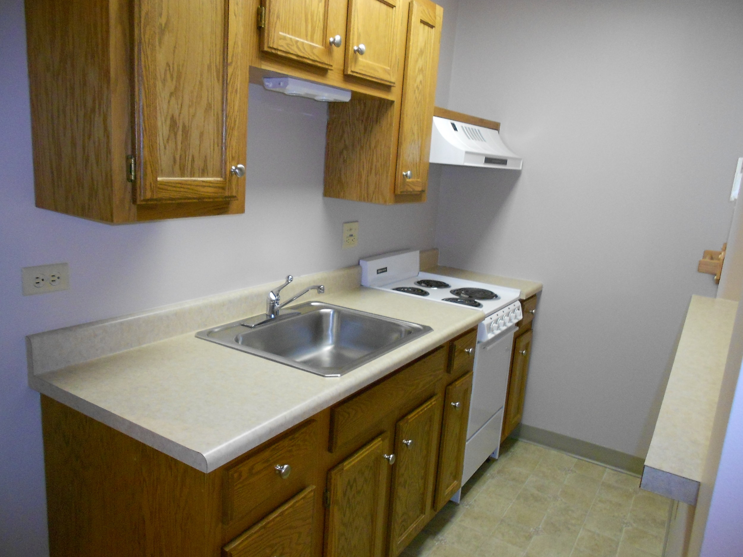 Galley kitchen in one bedroom