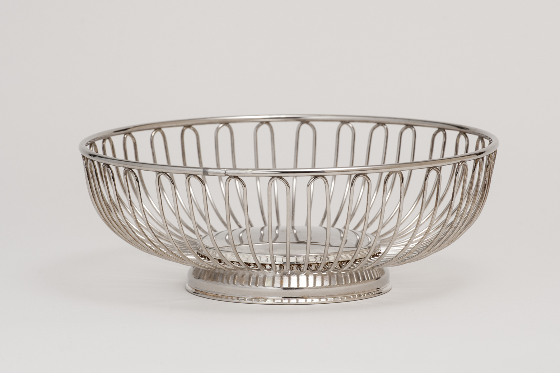 Round Silver Basket