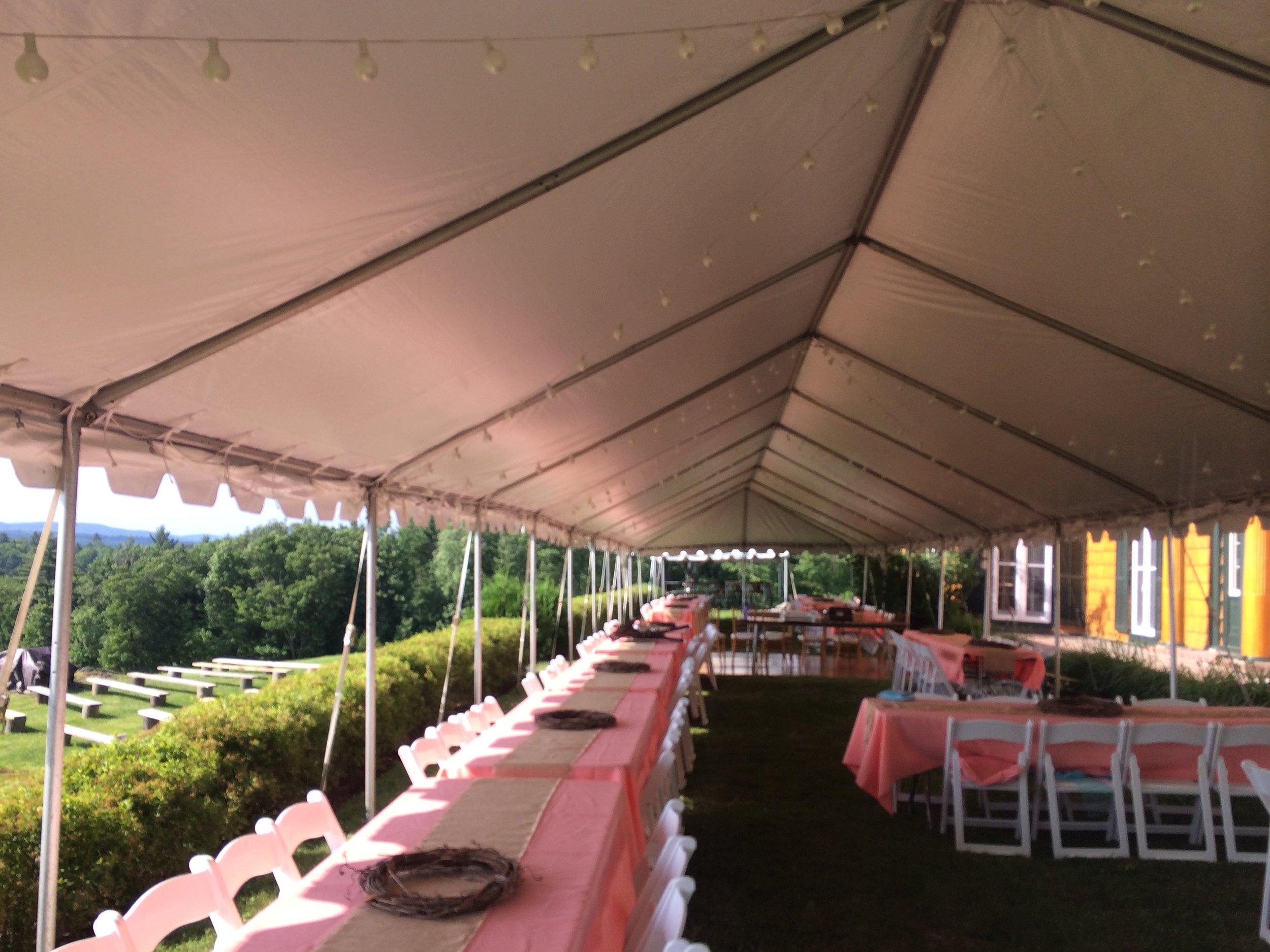 20 wide frame tent interior
