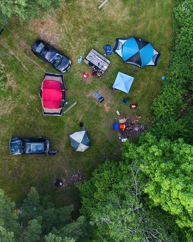 //015  #drone #photography #phantom4pro #camping #park #leonardharrisonstatepark #PA #feild #farmlife #canyon #trees #campsite