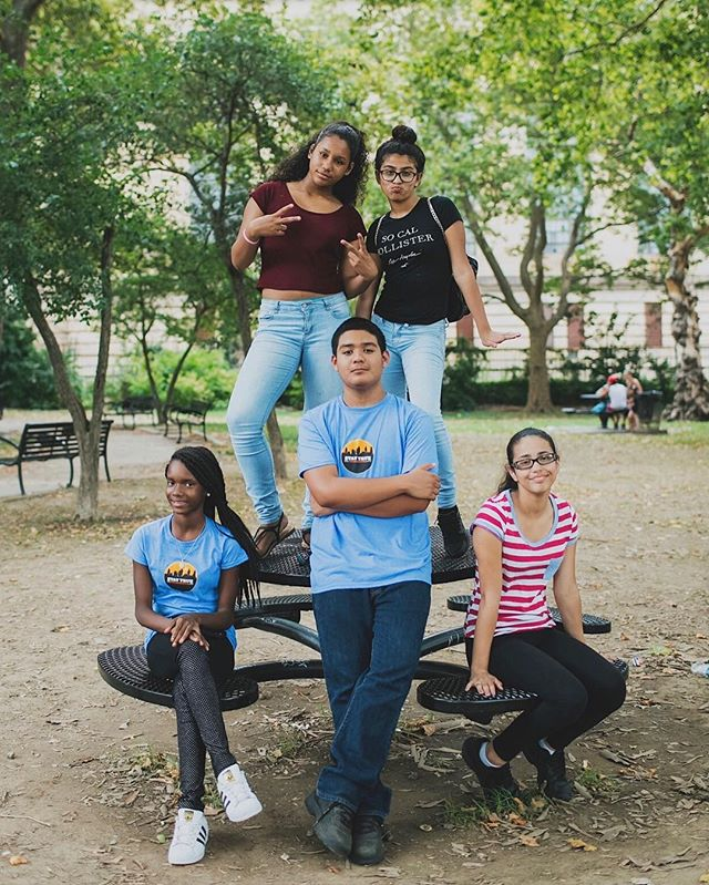 We love spending our Tuesday's in the summer with the @staytruephilly kids, today we worked on taking portraits at Penn Treaty Park!