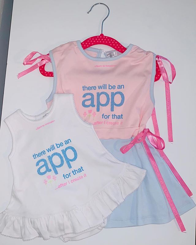 EXCITING NEWS!!! This week we received our updated samples! We have partnered with an AMAZING company. We still have minor tweaks as this is only the first sample, but we are so excited for what's in store (: . . .  #kidsfashion #girlpower #womenintech #code #girlswhocode #womeninbusiness #girlboss #startupbusiness #startupfashion #app #borntobeapparel #girlfashion