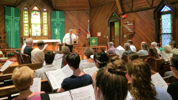 Second rehearsal of Summer Singers 2016 at St. Paul's Episcopal Church