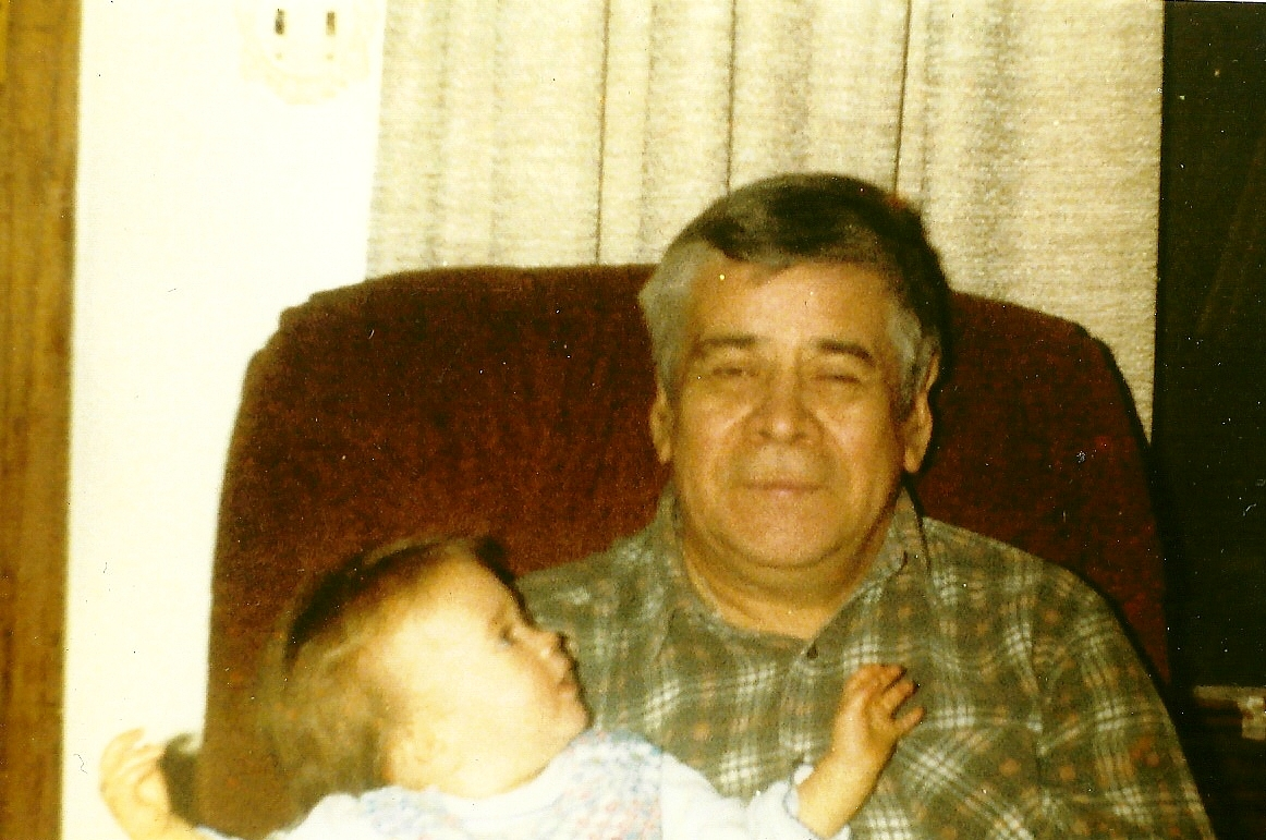 My Grandfather LaPointe and me - 1982.