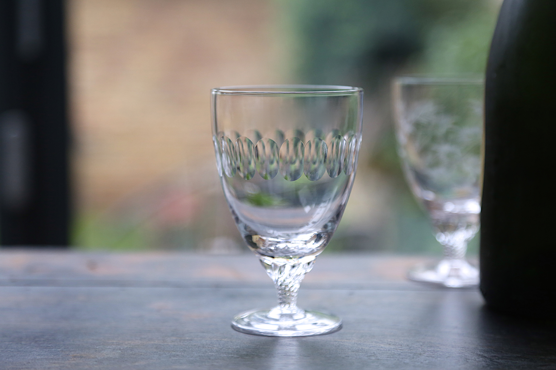 BISTRO WINE  GLASSES   With short, twisted stem, this is a classic French design.