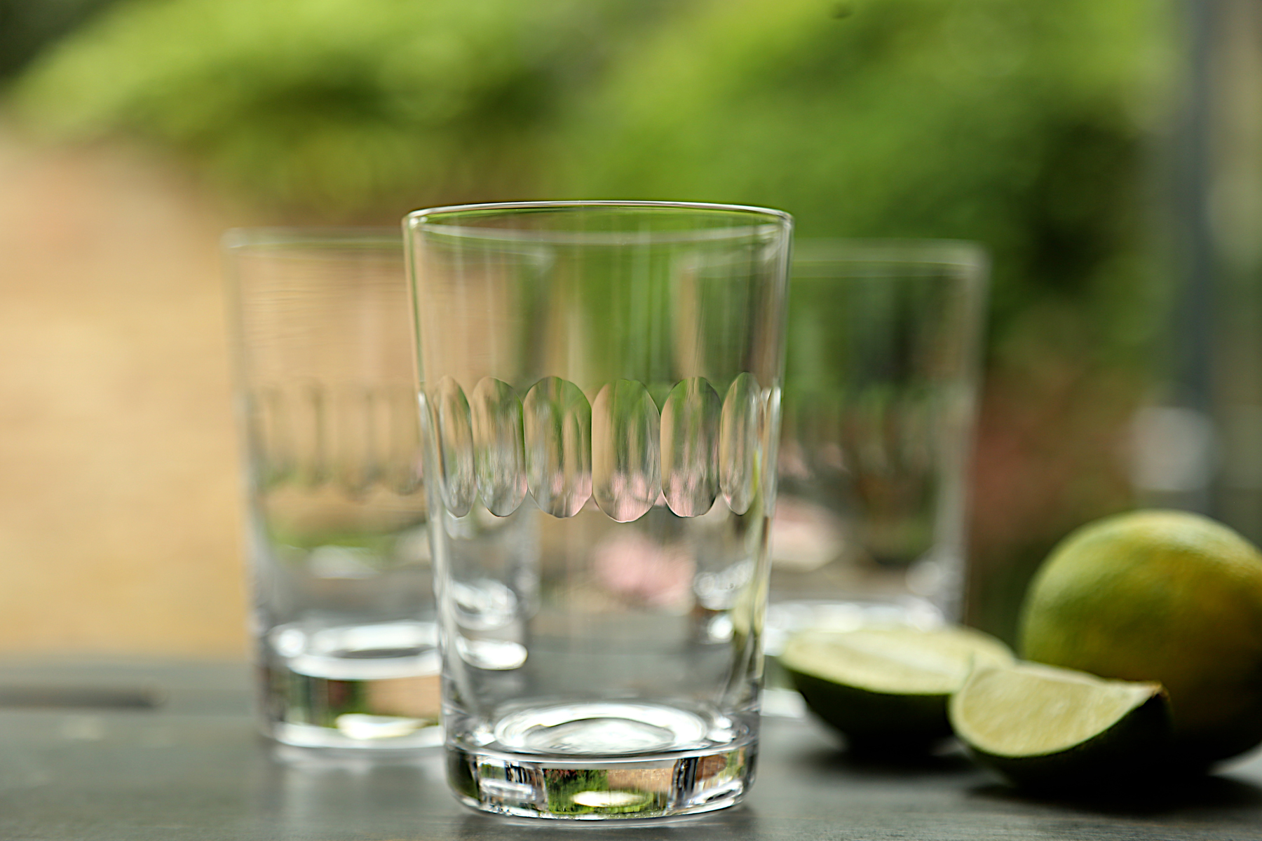 TUMBLERS   This glass is great for water, but can be used for beer, or even a small G&T! 10.7 cm tall; 7.2 cm wide; capacity: 210 ml
