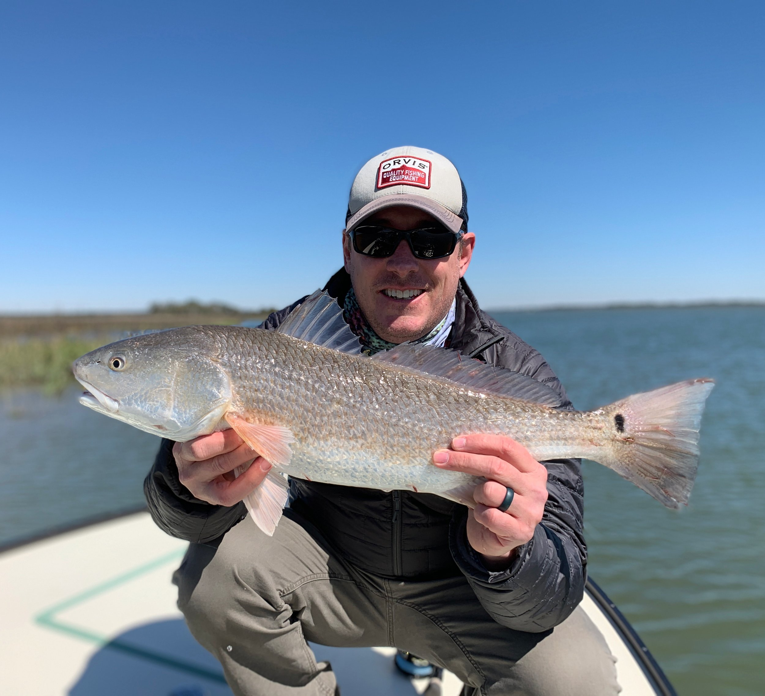 Redfish while fly fishing charleston sc