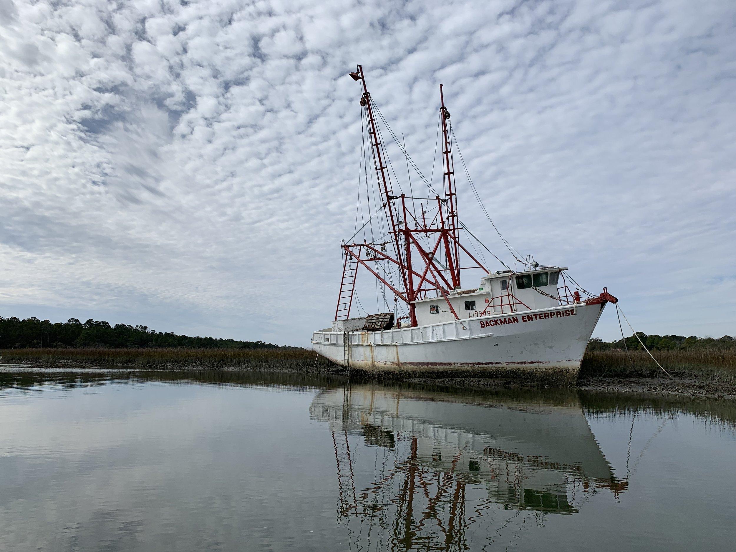 Shrimp Boat near Folly Beach, SC