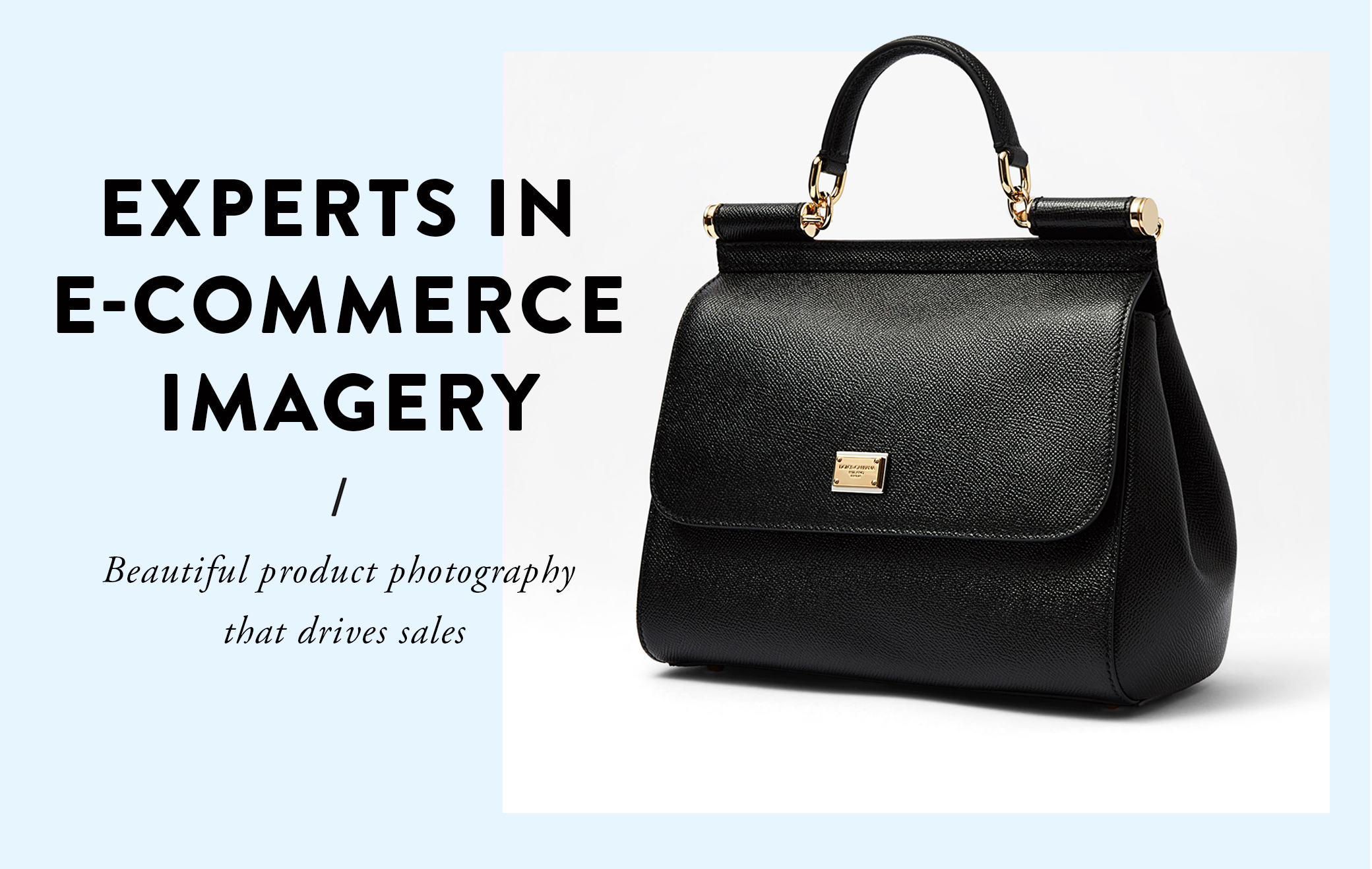 experts in e-commerce imagery, dolce gabbana handbag product photography