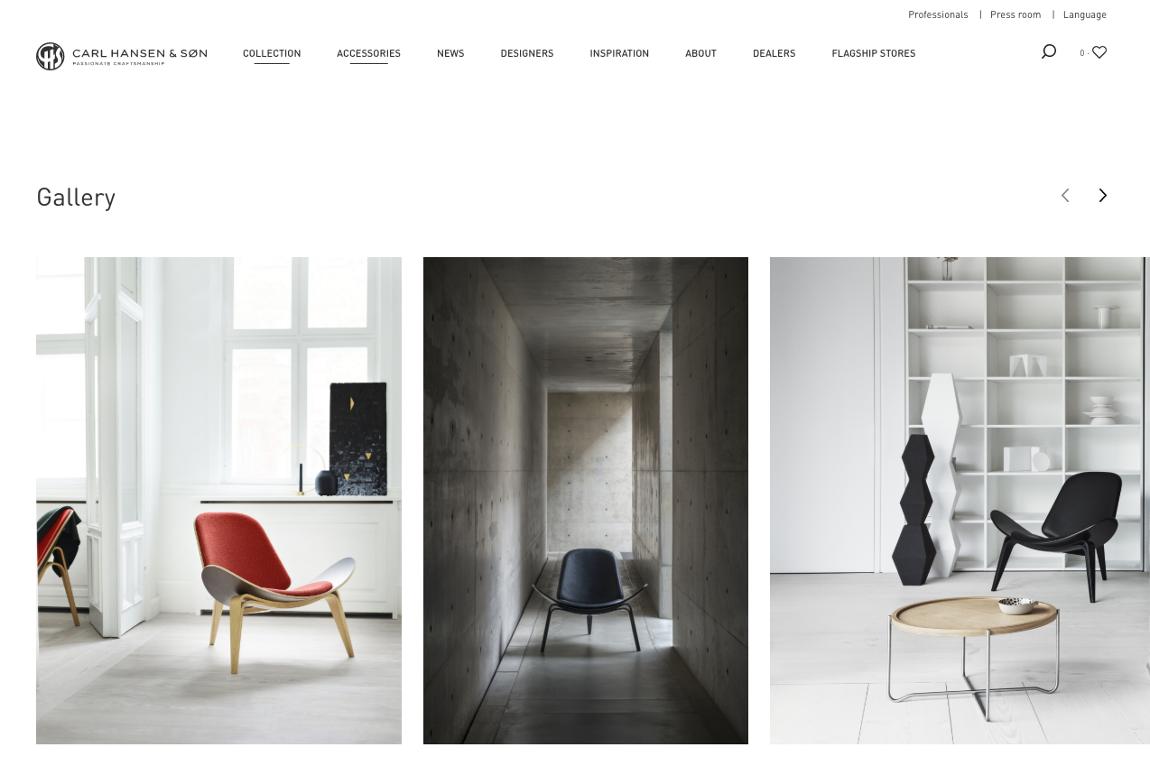 Click on the image to go to CarlHansen and see the full page experience.