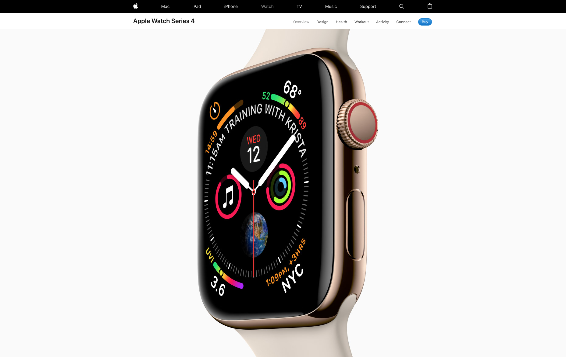 Click on the image above to see the full Apple Watch Product Detail Page.
