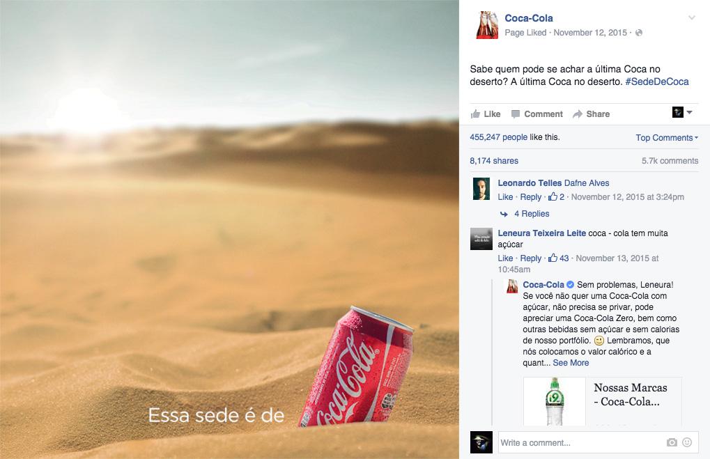 This is Coca-cola thirst
